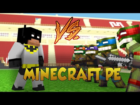 Minecraft PE | Batman vs The Teenage Mutant Ninja Turtles (TMNT Roleplay)