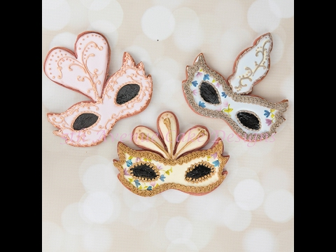 How to Decorate Venetian Mask Cookies for Mardi Gras