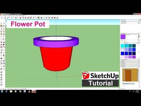 Sketchup tutorial flower pot