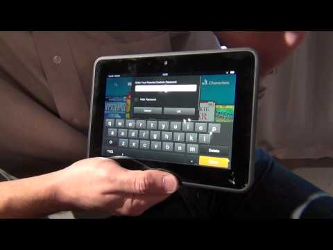 Amazon Kindle Fire HD: FreeTime parental control demonstration