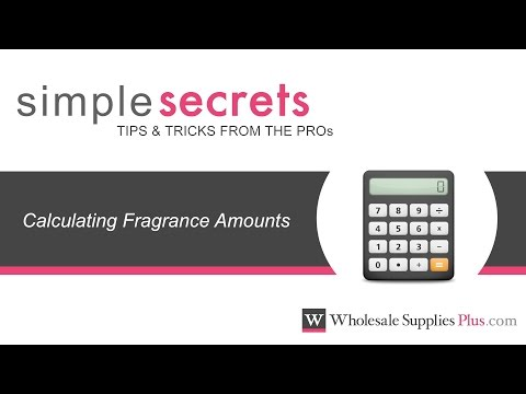 How to Calculate Fragrance Oil Amounts for Soaps and Cosmetics {Simple Secrets}