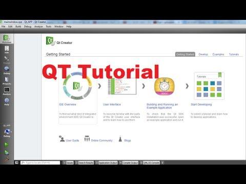 QT C++ GUI Tutorial 1-  Installing Qt SDK