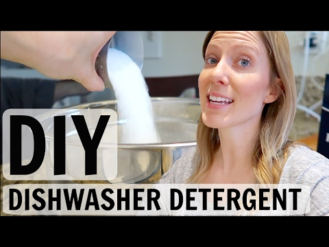 NATURAL DISHWASHER DETERGENT DIY