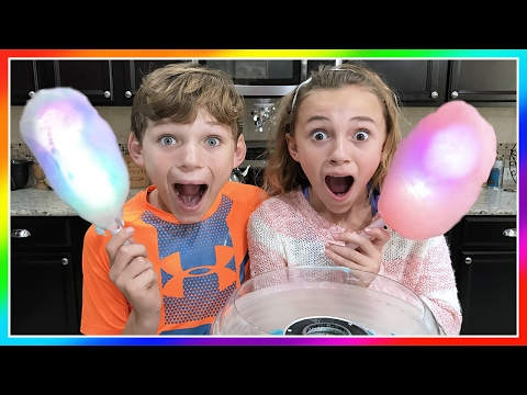 WE MAKE GLOWING COTTON CANDY! | We Are The Davises