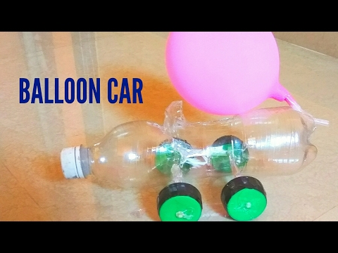 How to make simple balloon powered car at home