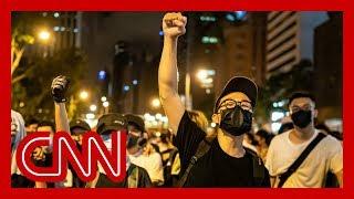 China blames US for massive Hong Kong protest