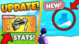 Fortnite PROXIMITY GRENADE LAUNCHER STATS + Sea Monster FOUND! - 5 Update Things in Battle Royale!