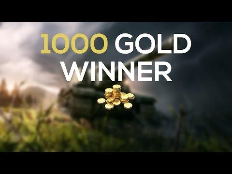World of Tanks | 1000 gold winner
