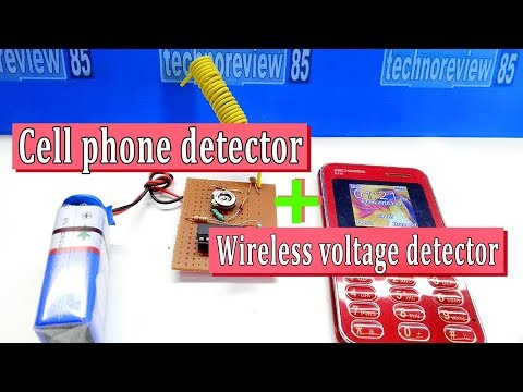 Cell phone detector & wireless voltage detector | How to make