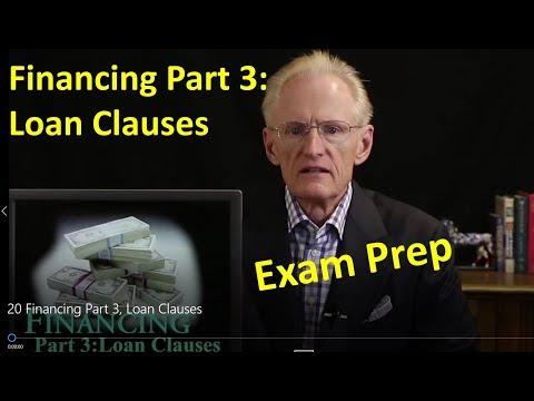 20 Financing Part 3, Arizona Real Estate License Exam Prep - Loan Clauses