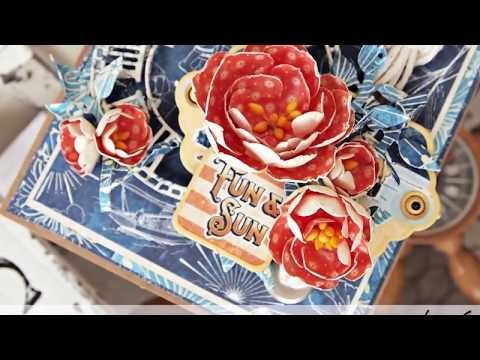DIY Paper Flower Tutorial - Featuring Graphic 45's Sun Kissed Collection & Metal Dies