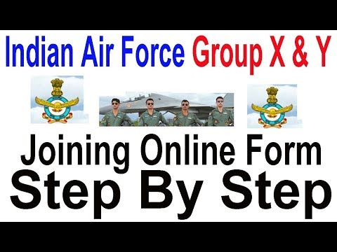 How to Apply Indian Air Force Online Form 2018 Group X & Y | How to join Indian Air Force after 12th