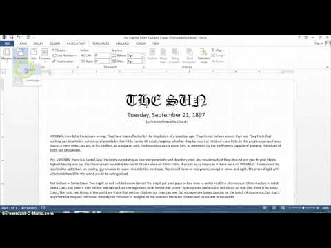 How to Change the Print Format to Horizontal on Microsoft Word : Microsoft Office Help