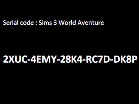 Serial code Sims 3 World Adventure