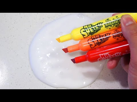 Slime Coloring with Fruity Scented Markers & Satisfying Balloon Cutting!