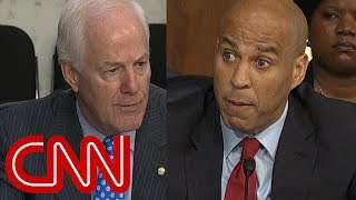 Cory Booker fires back at Cornyn