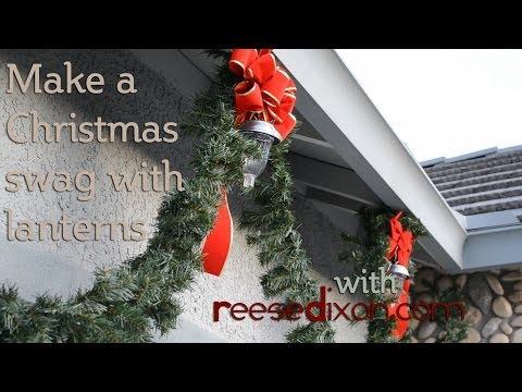 Make a Christmas Garland with DIY Lanterns