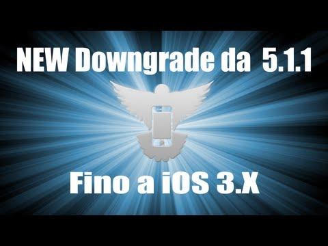 Downgrade 5.1.1 ad iOS 5.1;5.0.1;5.0;4.3.5;4.3.4;4.3.3;4.2.1;4.2;4.1;4.0;3.1.3;3.1.2;3.1;3.0.1;3.0