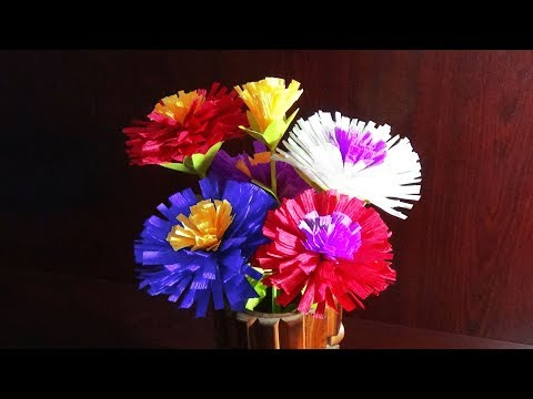 DIY Home Decor | Paper Flowers With Crepe Paper | Easy And Simple Steps |