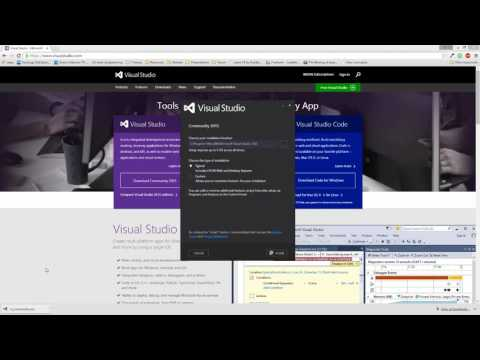 002 Downloading and Installing Visual Studio Community 2015