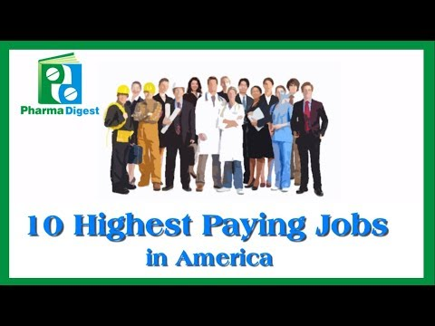 Highest Paying Jobs In America/ USA. Check, what is Pharmacist's status?