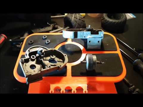 How To Install Boca Bearings in Traxxas Bandit VXL Pt. 2 (Transmission)