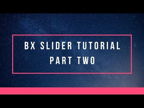 How to use bx slider for your website | Part Two | Example Two