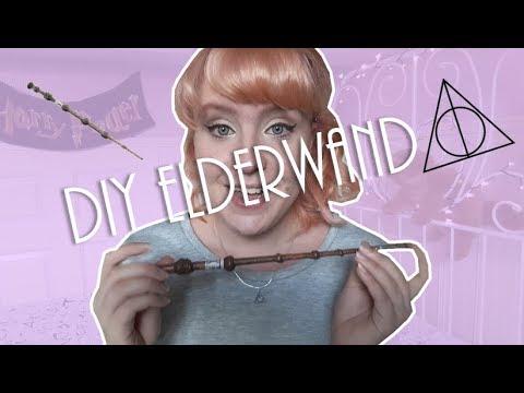 Elderwand (make-up kwast) DIY