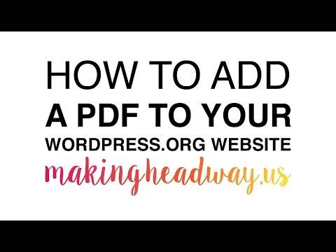 Add a PDF to a WordPress Website