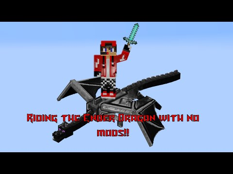 How to ride the EnderDragon with NO mods!! 1.8 and higher