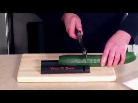 How to cut a cucumber with the Yomo Sushi Cutter