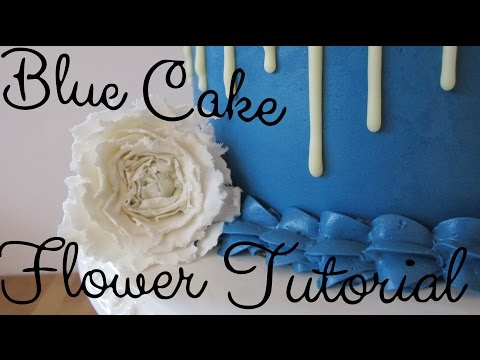 BLUE FLOWER CAKE! || Ella Cakery