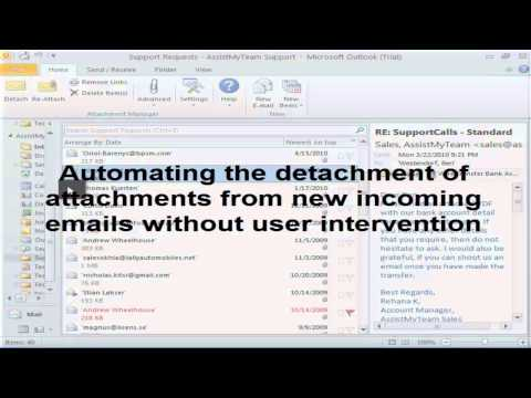 Attachment Manager for Outlook - Video Demonstration
