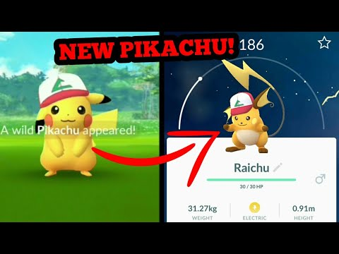 Getting Ash Hat Pikachu And Evolving It To Ash Hat Riachu In Pokémon GO