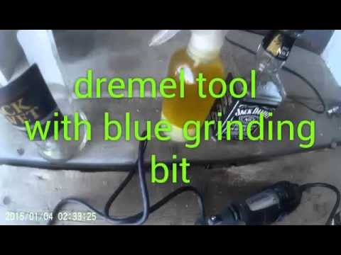 Drilling glass with dremel tool