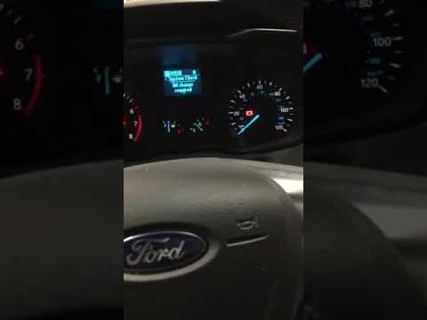 2015 Ford Transit 250 oil life reset.