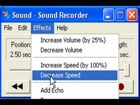 Windows XP Sound Recorder: Messing With Your Voice