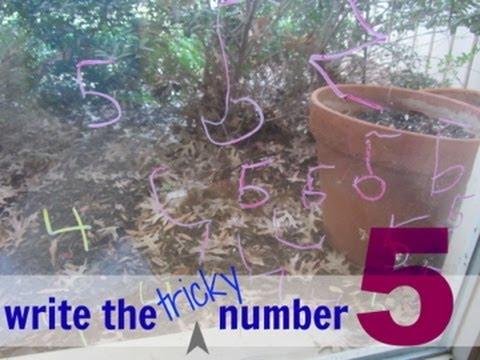 teaching kids how to write the number '5' :: education :: teachmama.com
