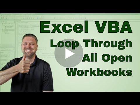 How to Loop Through All Open Workbooks in Excel VBA (Macro) - Code Included