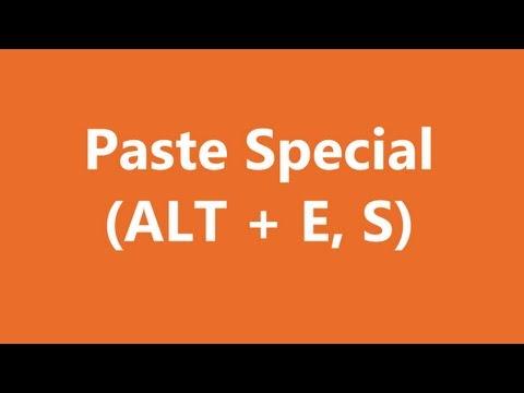 Excel Shortcuts - Paste Special