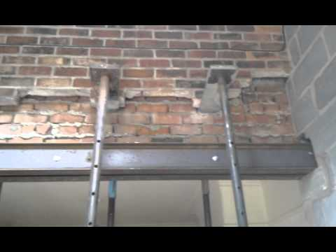 How to put Steel RSJ Lintels into a Supporting Wall
