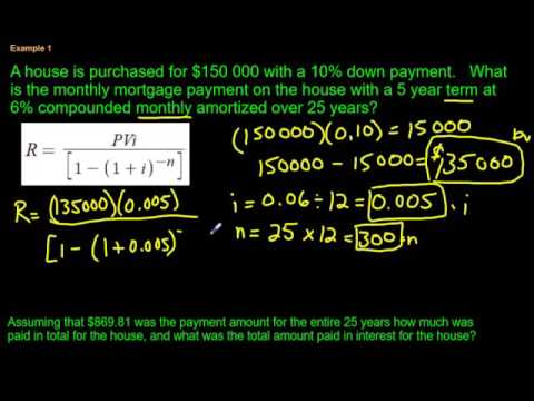 Calculating a Mortgage Payment (using a formula)