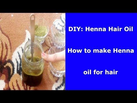 DIY: Henna Hair Oil at Home | Black Hair Oil to Change Your White Hair to Black Hair Permanently