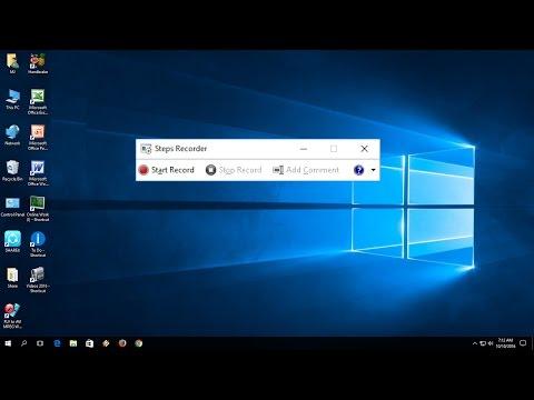 Hidden Steps Screen Recorder of Windows 10/8.1/7) (PSR)
