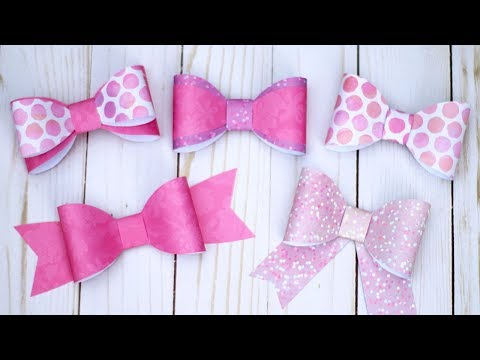 Paper Bow Tutorial 🎀 Make 5+ Different Bows!