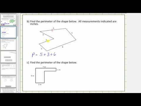 Determine the Perimeter of Various Polygons