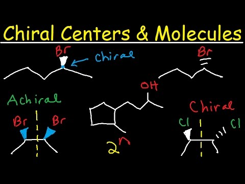 Chiral vs Achiral Molecules - Chirality Carbon Centers, Stereoisomers, Enantiomers, & Meso Compounds