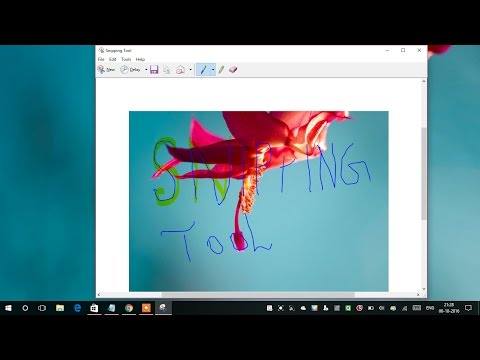 How to use the Snipping Tool in Windows 10 2016