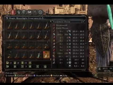 Dark Souls 2 Moonlight Greatsword Best Sorcerer Weapon!