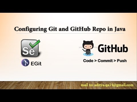 GitHub and Git Integration in eclipse for Java Selenium Project in windows platform.